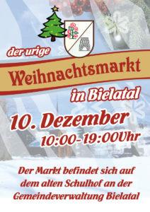 Es weihnachtet sehr in Bielatal! Die Vereine von Rosenthal-Bielatal laden zum urigen kleinen Weihnachtsmarkt auf dem alten Schulhof in Bielatal ein. Lasst euch überraschen!